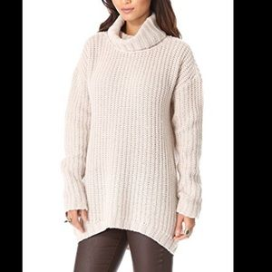 JOIE CHUNKY COWL NECK OVERSIZED SWEATER